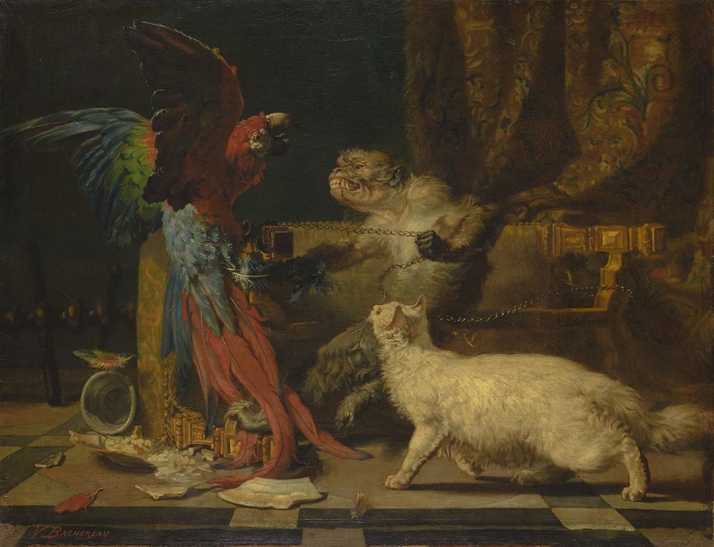 Виктор Башеро-Ревершон «Ссора животных», 1829. Холст, масло © Государственный Эрмитаж. Фотограф П. С. Демидов