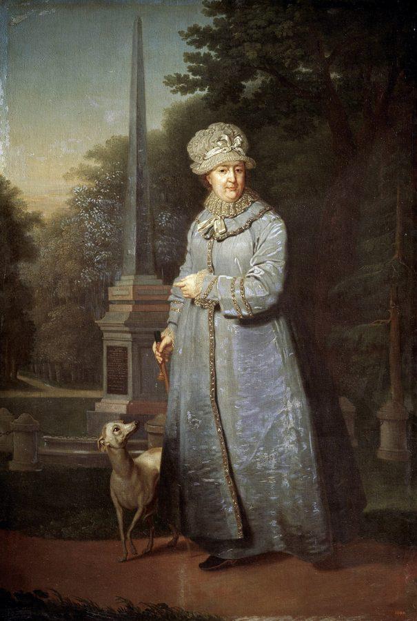 В.Л. Боровиковский «Екатерина II на прогулке в Царскосельском парке (с Кагульским обелиском на фоне)», 1800-1810 © ГРМ