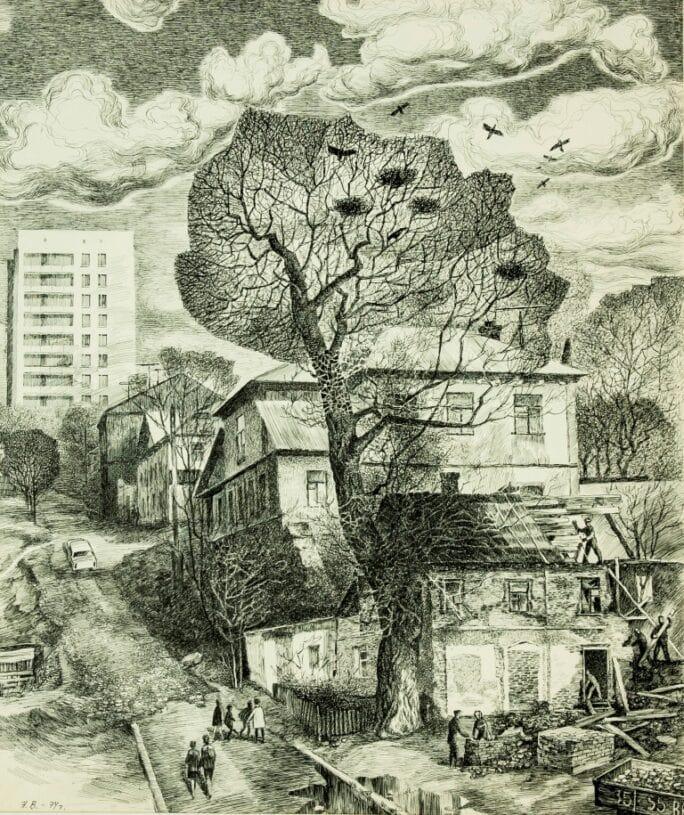 Н.Б. Василенко «Весна в Воронеже», 1974