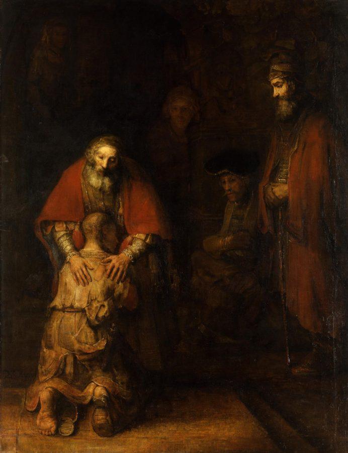Рембрандт Харменс ван Рейн «Возвращение блудного сына», ок. 1668 (Эрмитаж)