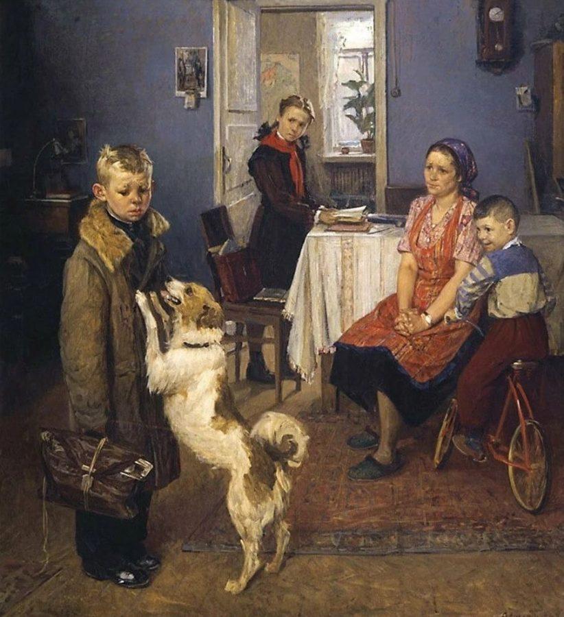 Ф.П Решетников «Опять двойка», 1952 © Государственная Третьяковская галерея