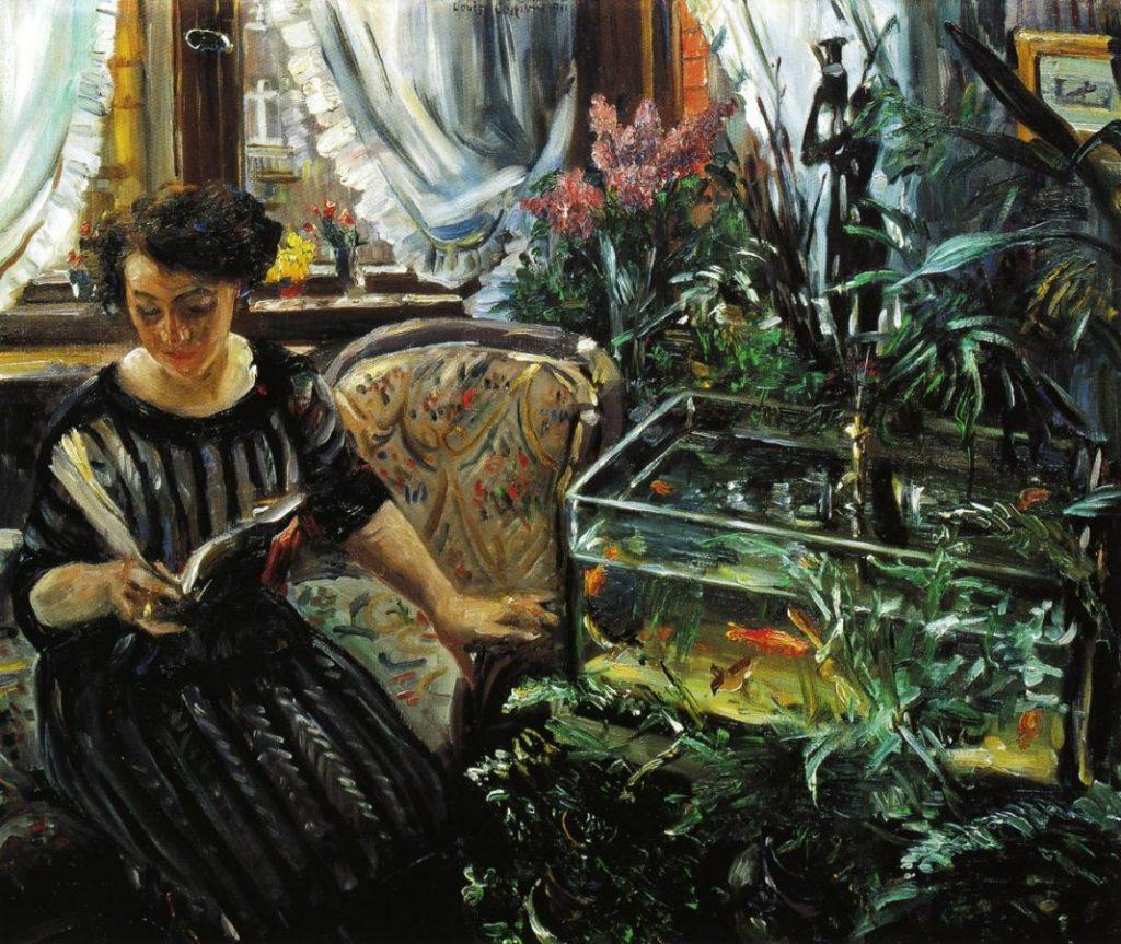 Ловис Коринт «Woman by a Goldfish Tank», 1911 © Belvedere