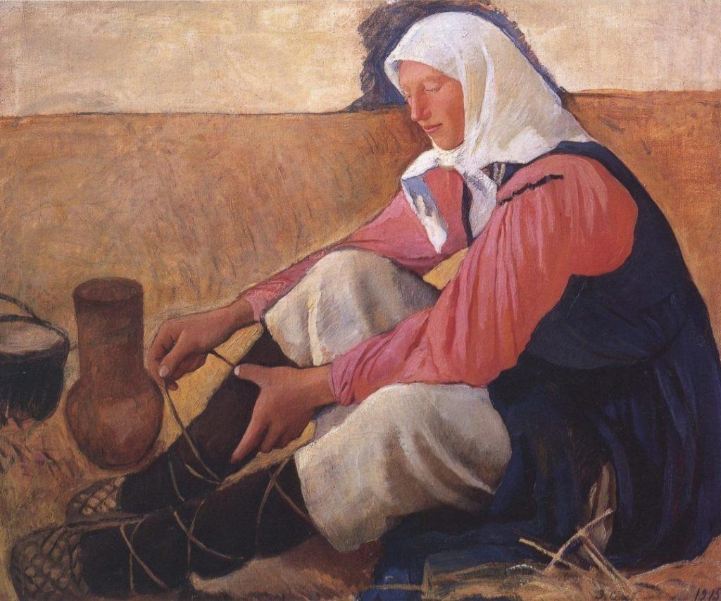 З.Е. Серебрякова «Обувающаяся крестьянка», 1915 © ГРМ