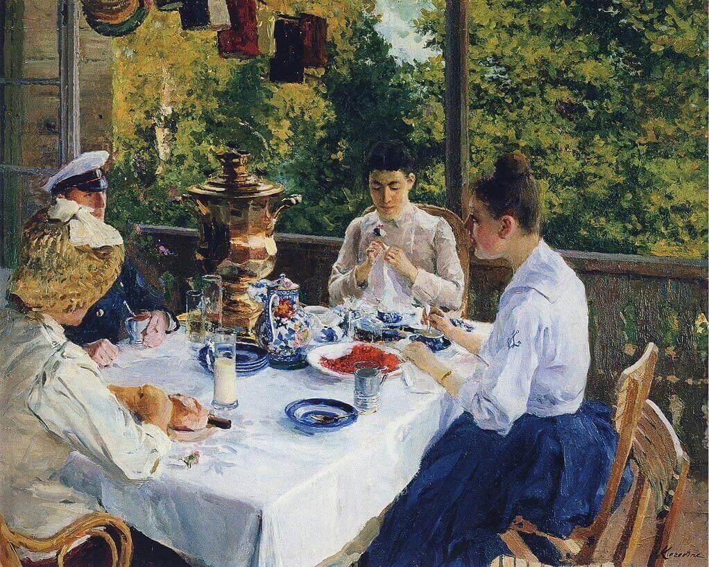 К. Коровин «За чайным столом», 1888 © Музей-заповедник В.Д. Поленова