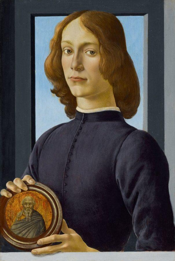 Сандро Боттичелли «Портрет молодого человека с медальоном», около 1470–1480 © Sotheby's