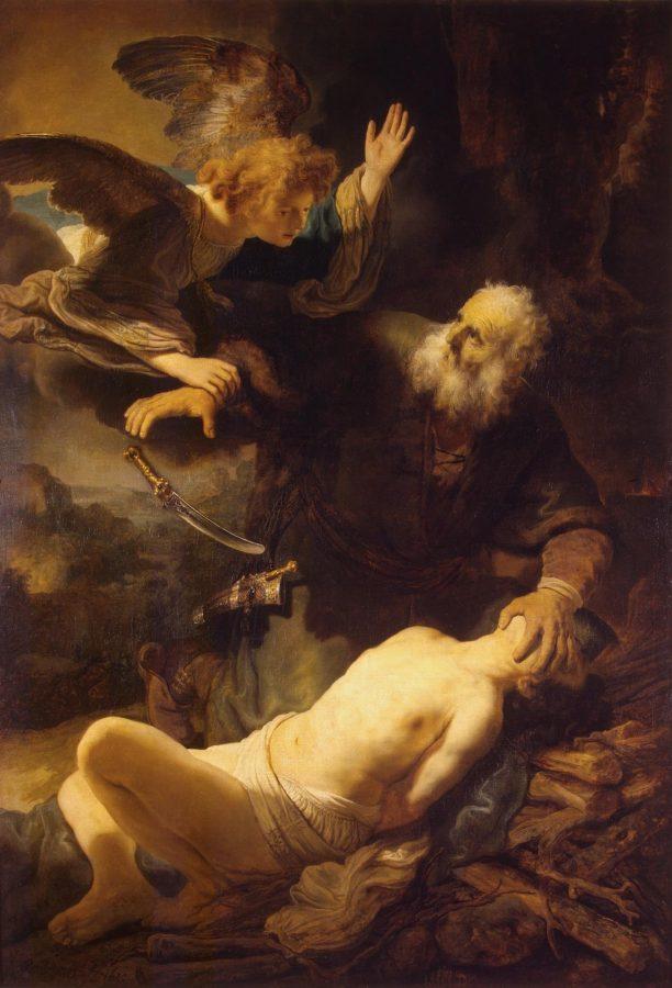 Рембрандт Харменсван Рейн «Жертвоприношение Авраама», 1635 (Эрмитаж)